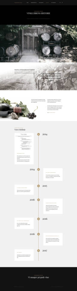 Skærmprint af Hornsherredvinklubs hjemmeside
