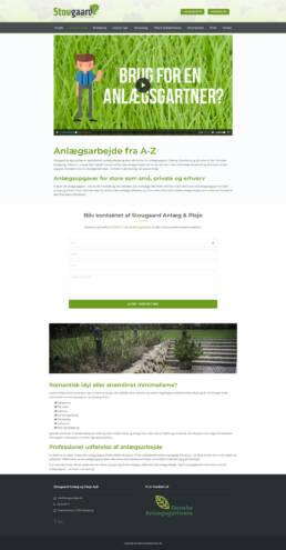 Et skærmbillede af anlægsarbejdefor stougaard anlægsgartners website