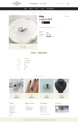 Et billede af en ring fra shoppen vintagesmykker.dk